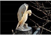 Dřevěná socha orla
