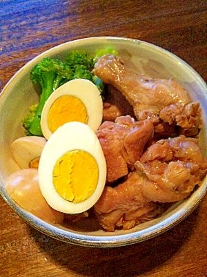 """Boiled chicken drum stick at my home"" - japanese recipe/うちの鶏手羽元さっぱり煮"