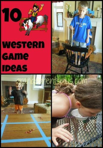 10 Western Games for a western themed party. Lots of fun! Save for a future party!