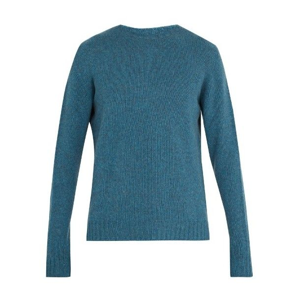 Etro Crew-neck cashmere-knit sweater ($900) ❤ liked on Polyvore featuring men's fashion, men's clothing, men's sweaters, blue, mens blue sweater, mens crew neck sweaters and men's crewneck sweaters