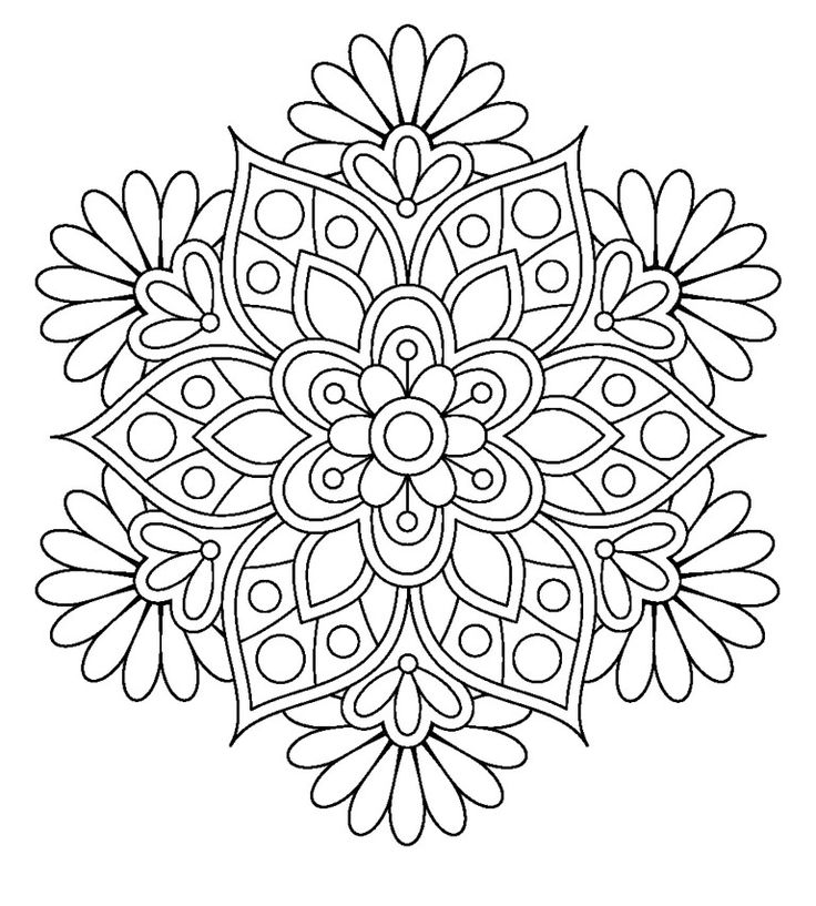 mandala coloring pages for grown ups more - Coloring Pages Mandalas Printable