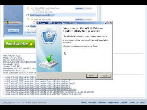ASUS AIO AMD BIOS Laptop Auto Driver Update Driver Utility For