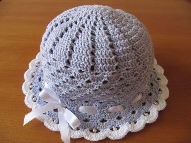 letní klobouček s mašličkou