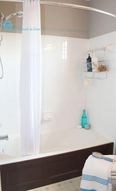 Bathroom Makeover. Bathtub CoverDiy ...