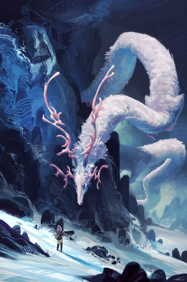 "cinemagorgeous:  ""Spirit of the Mountain by artist Thomas Chamberlain.  """