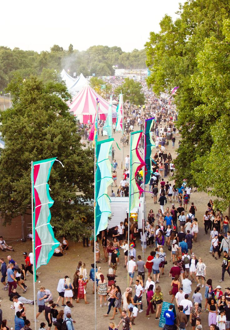 view from above in the air flags lovebox festival 2015