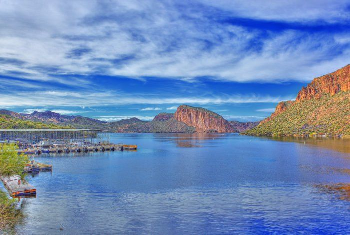 Canyon Lake is just 51 miles east of Phoenix, and it's a beautiful, 950-acre gem.