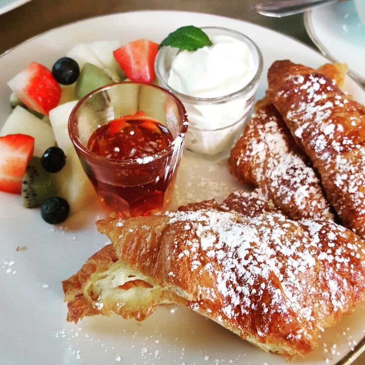 French Toast made from croissants at House of Small Wonder in Berlin, Germany, Europe