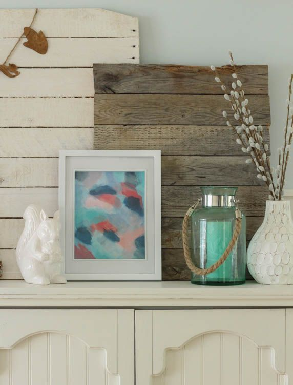 Turquoise & Coral Fall Mantel at thehappyhousie.com-6