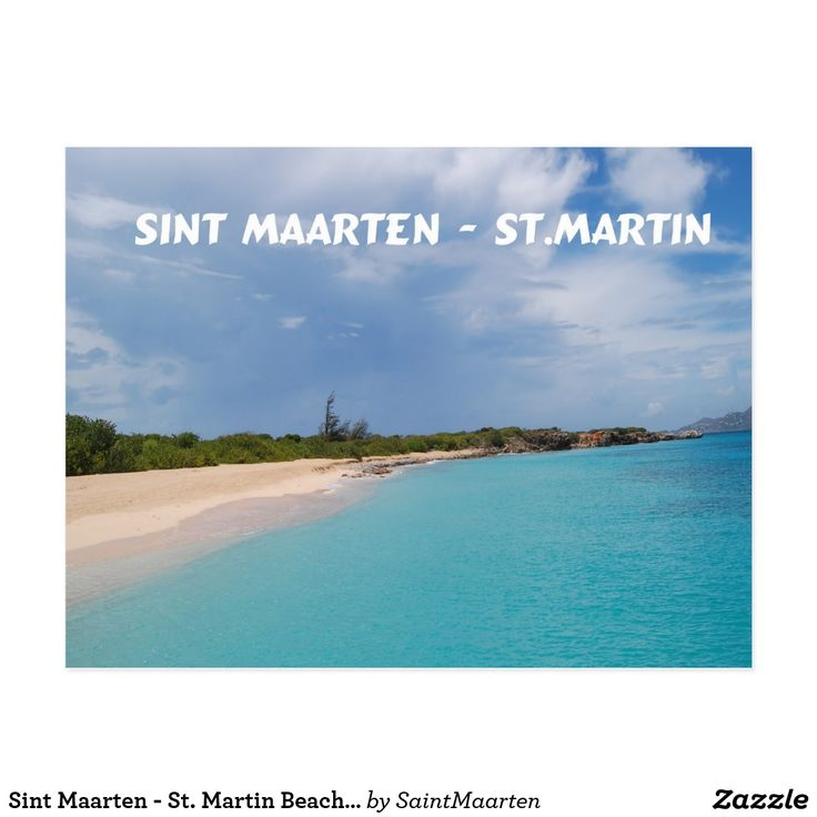 Sint Maarten - St. Martin Beach Scene Postcard (sold - Illinois) Thank you!