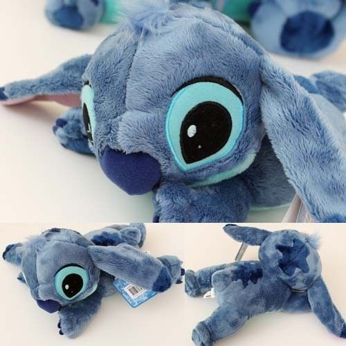"Disney Stitch Plush Doll 12"" Laing Cushion Girl BRAND NEW Lilo and Stitch Toy"
