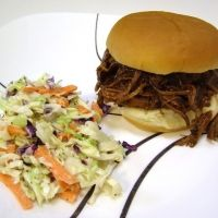 BBQ pulled pork made with coke