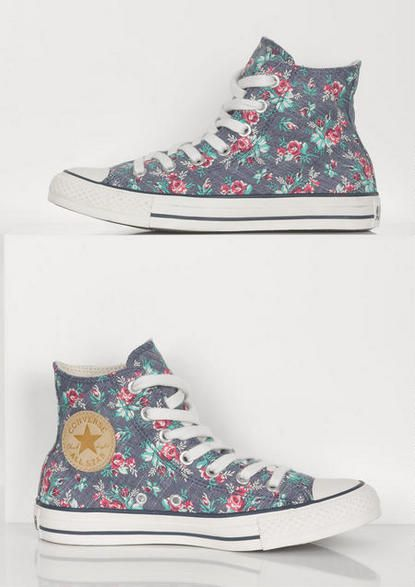Trend: Floral Patterns  Converse sneakers run narrow and have poor support, if you want this look I'd suggest Payless knock-offs, they don't provide more support but they're about half the price and are available in wide widths.