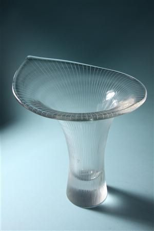 Twentieth century Scandinavian glass: Kantarelli. Designed by Tapio Wirkkala for Iittala, Finland. 1957