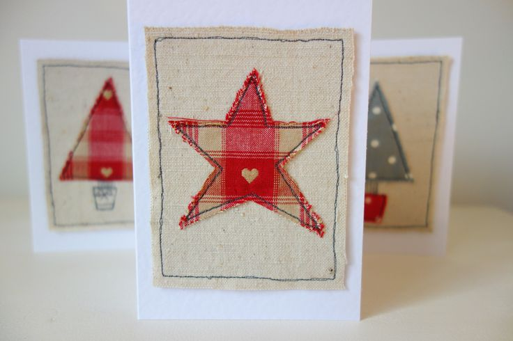 free machine embroidery christmas cards - Google Search