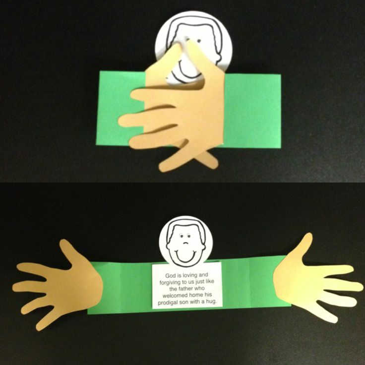 Lesson 6 (older kids): Parable of the prodigal son (uses kids own handprints)