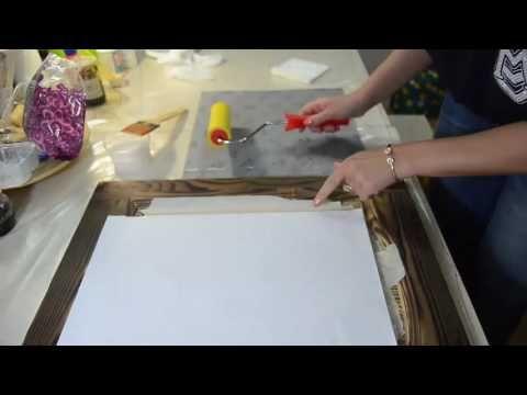 Декупаж. Рамка для картины. Шпатлевка или текстурная паста? - YouTube