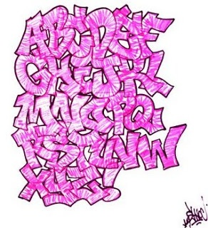graffiti alphabet letter pink,graffiti alphabet pink,graffiti alphabet  – DIY