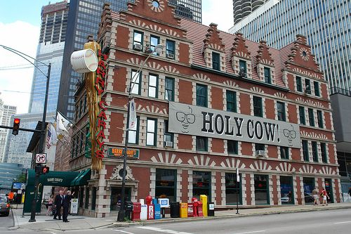 Harry Caray's Italian Steakhouse & Bar. Harry Caray's is located at the corner of West Kinzie Street & North Dearborn St. in downtown Chicago.