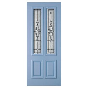 Corinthian Doors Clear Bevelled Leadlight Entrance Door 2040x820x40mm