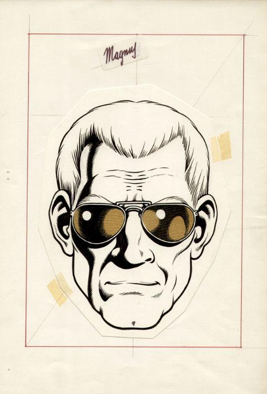 Magnus - Copertina del fumetto Lo sconosciuto, disegno originale  della serie  Tabu', i nobel del fumetto, 1976  edizioni    Geis