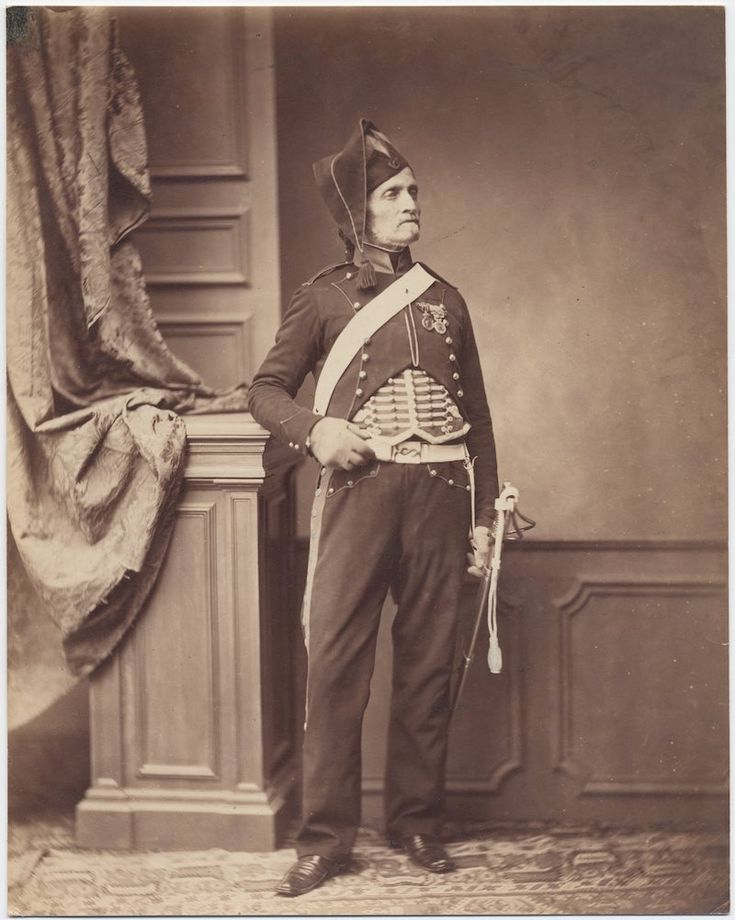 Monsieur Schmit, 2nd Mounted Chasseur Regiment, 1813-14 Image: Brown University Library c. 1858: Photos of Veterans of the Napoleonic Wars