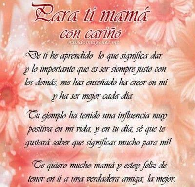 poemas para mamá cortos en su día bello