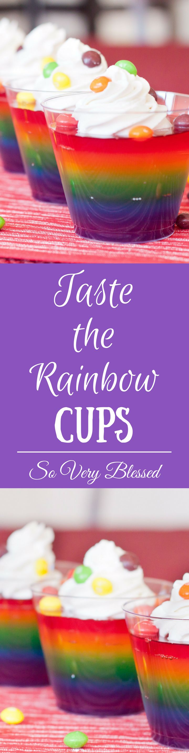 Taste the Rainbow with these deliciously awesome Jell-O cups! Sprinkle them with…