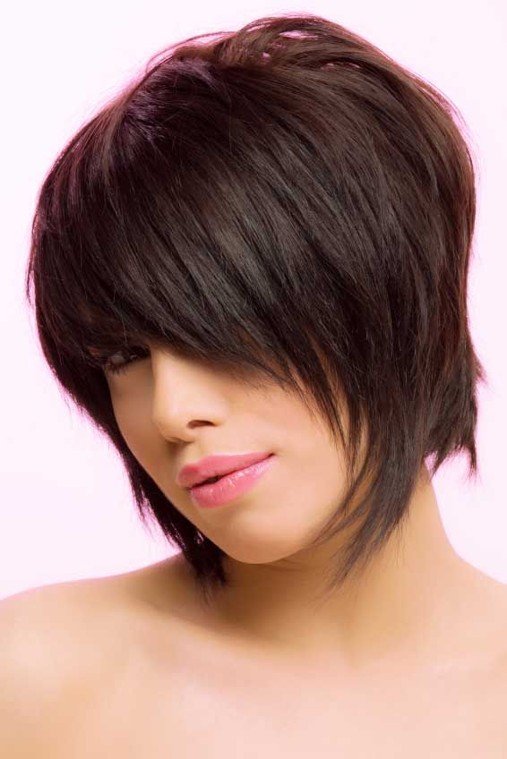 shaggy layered bob hairstyles 2