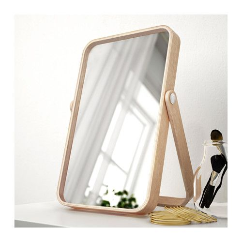 IKEA IKORNNES table mirror Suitable for use in most rooms, and tested and approved for bathroom use.