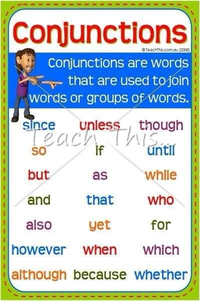Essay conjunctions list