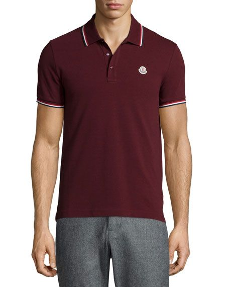 BURGUNDY TIPPED POLO - Google Search