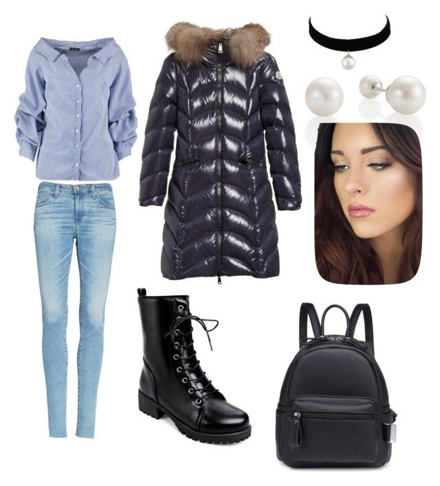 """""""Work day"""" by gforfashion on Polyvore featuring AG Adriano Goldschmied, Boohoo and Moncler"""