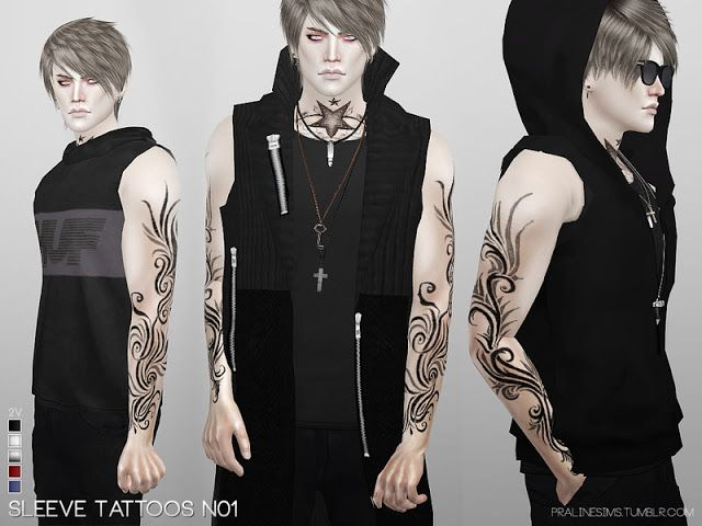 Sims 4 CC's - The Best: Sleeve Tattoos by Pralinesims