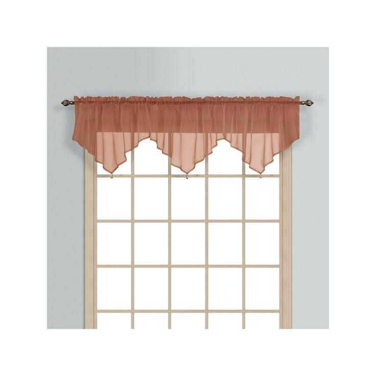 United Curtain Co. Monte Carlo Ascot Valance - 40'' x 26'', Orange