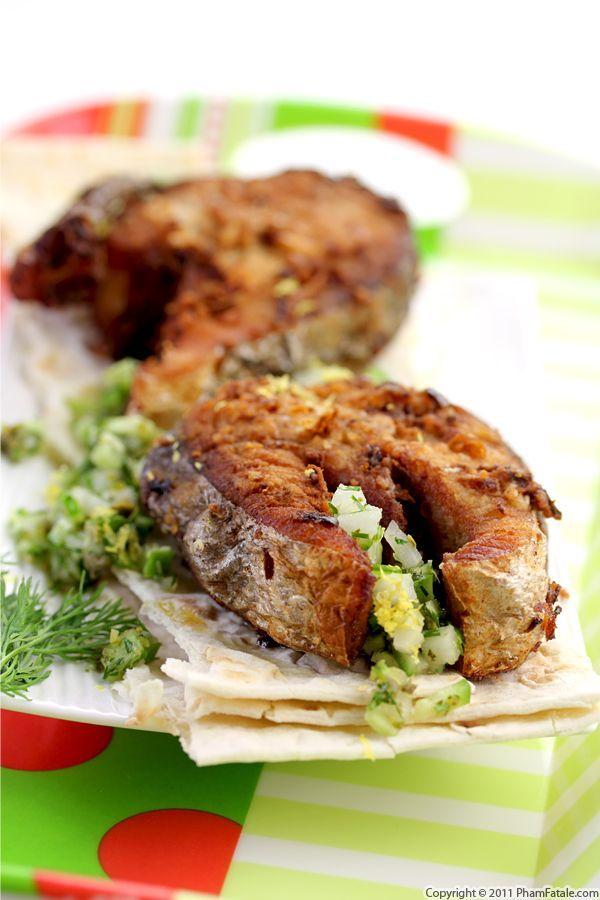 Mackerel with Wasabi Daikon Radish Relish
