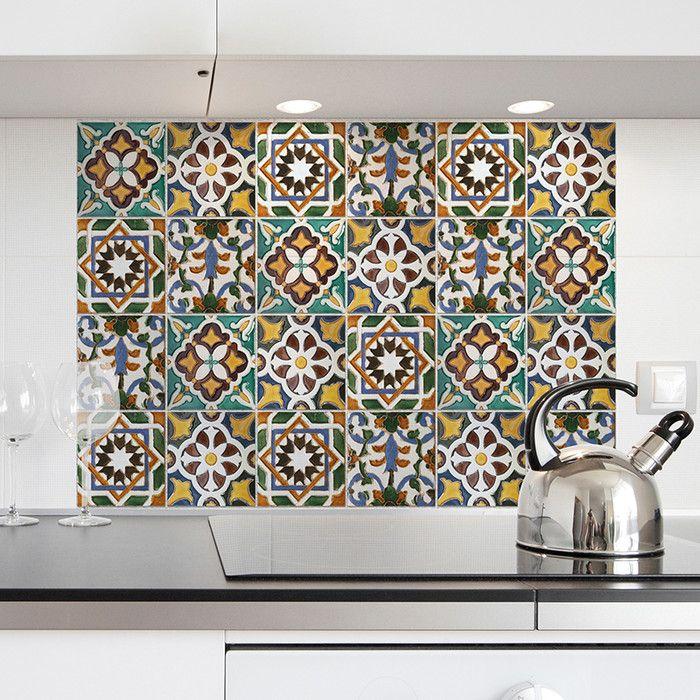 WallPops! Green Tiles Kitchen Tiles Wall Decal & Reviews   Wayfair