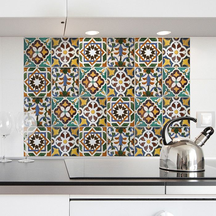 WallPops! Green Tiles Kitchen Tiles Wall Decal & Reviews | Wayfair                                                                                                                                                                                 More