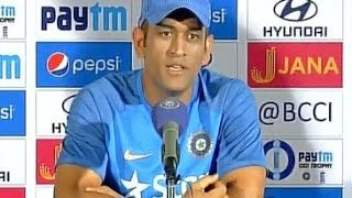 MS Dhoni First Press Conference I enjoyed the journey- Dhoni on captaincy | economic times  #Sports #Cricket #sportNews #IndianCricket