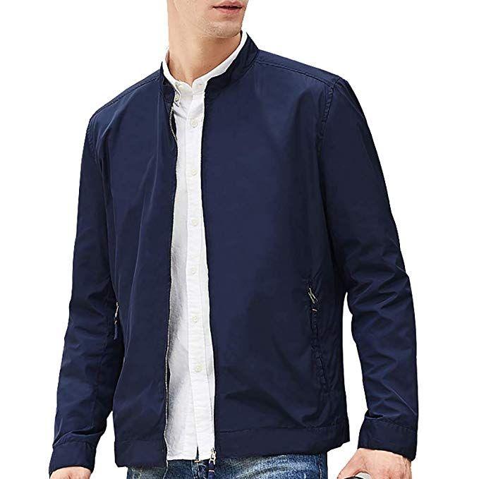 Beverry Collarless Men's Jacket Lightweight Casual Coats Zip Up  Windbreakers Men Review   Mens jackets casual, Mens windbreaker, Mens vest  fashion