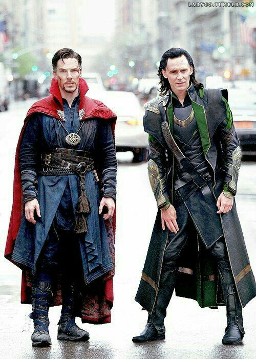 The two favorite Britishers in marvel movie.  So much fun