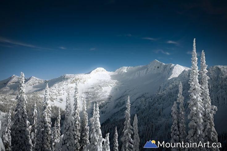 Whitewater Winter Resort's notorious backcountry area Ymir Bowl and Ymir Peak. Fine art photo by Lucas Jmieff, Nelson, BC.