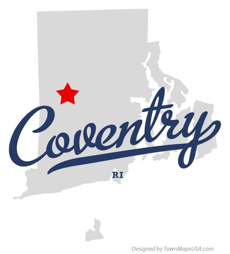 Map Of Coventry Rhode Island RI Rhode Island Where I Am From - Road island usa map