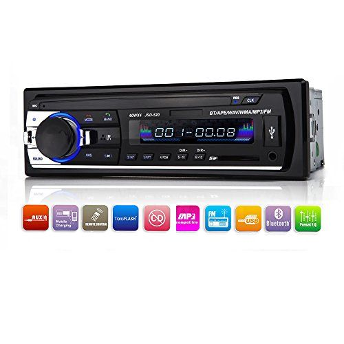 Car Stereo with Bluetooth,In-Dash Single Din Car Radio, Car MP3 Player USB/SD/AUX/Wireless Remote Control Included by Xshop. For product info go to:  https://www.caraccessoriesonlinemarket.com/car-stereo-with-bluetoothin-dash-single-din-car-radio-car-mp3-player-usbsdauxwireless-remote-control-included-by-xshop/