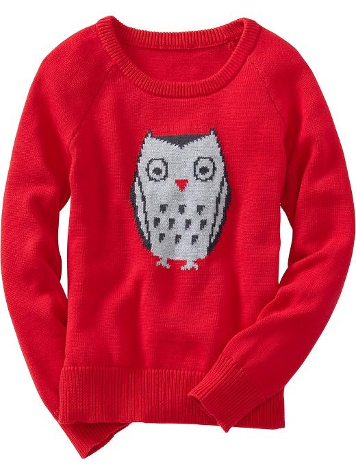 Old Navy Girls Animal Graphic Sweaters