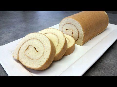 How to make Japanese fruit roll cake (recipe) - Cách làm bánh bông lan cuộn kem tươi hoa quả - YouTube