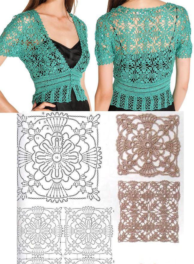 a neat square lace motif