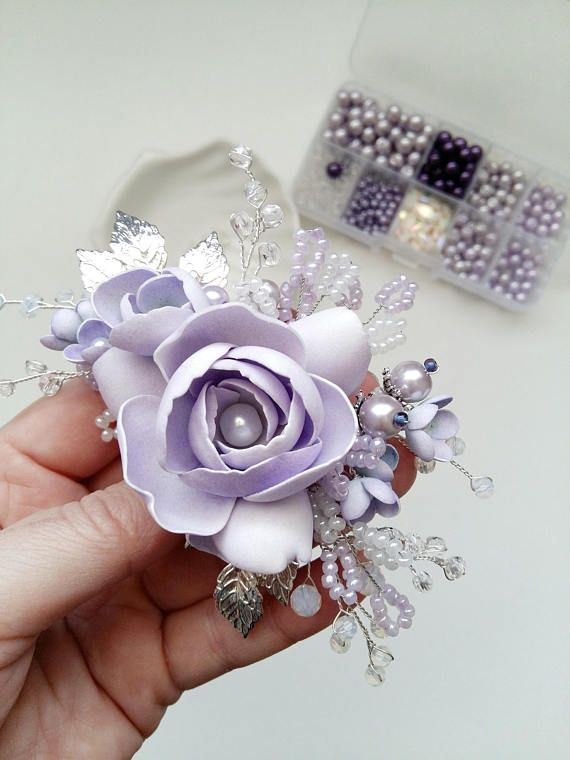 Lavender Bridal hair comb Wedding hair comb Bridal