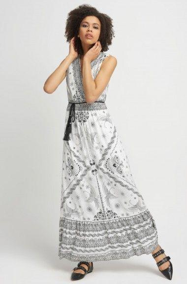 Vzorované maxi šaty
