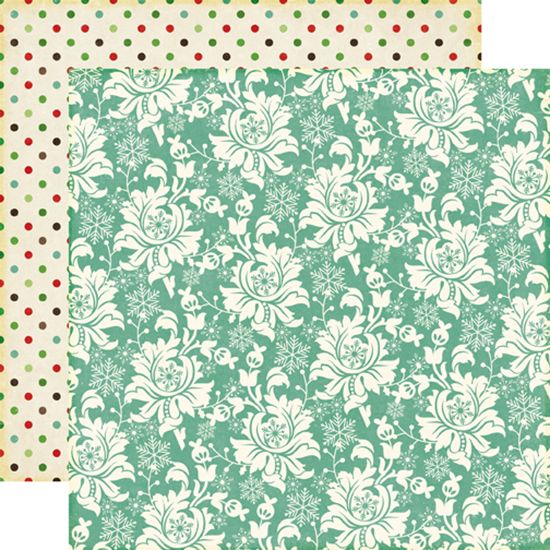 Echo Park - Reflections Collection - Christmas - 12 x 12 Double Sided Paper - Christmas Floral at Scrapbook.com
